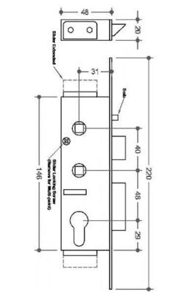 ABT GIBBONS DOOR LOCK Gearbox With Faceplate And Snib | Lockfinder